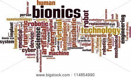 Bionics Word Cloud