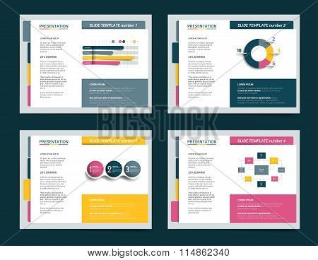 4 Presentation Business Templates. Infographics