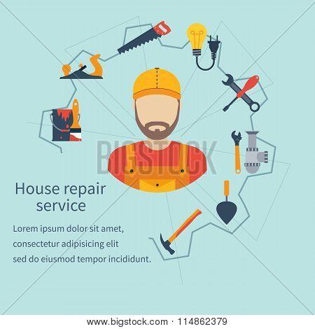 House Repair Service. Repairman