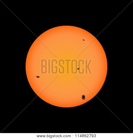 Sun Illustration With Spots
