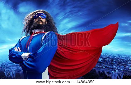 Funny nerdy superman
