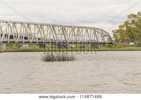 Santa Lucia Bridge In The Boundaries Of Montevideo, Uruguay