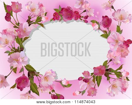 Spring flowers horizontal background