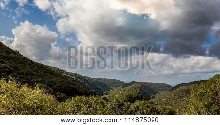 Mountain Landscape, Upper Galilee In Israel