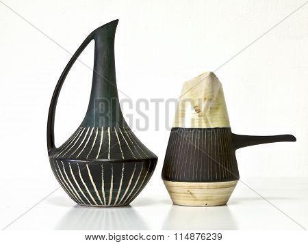 Vintage Ceramic Pair In Retro Style