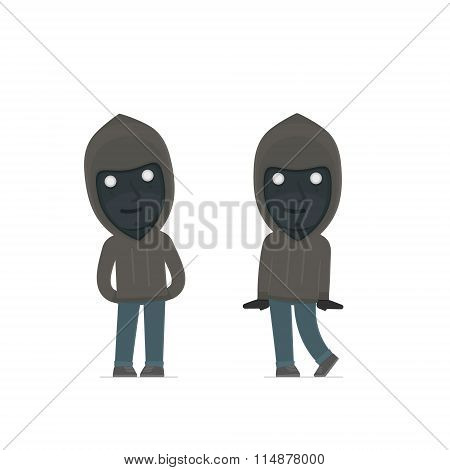 Cute and Affectionate Character Anonymous Hackers in shy and awkward poses. for use in presentations etc. poster