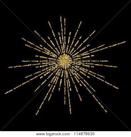 Golden Glittering Beams Template