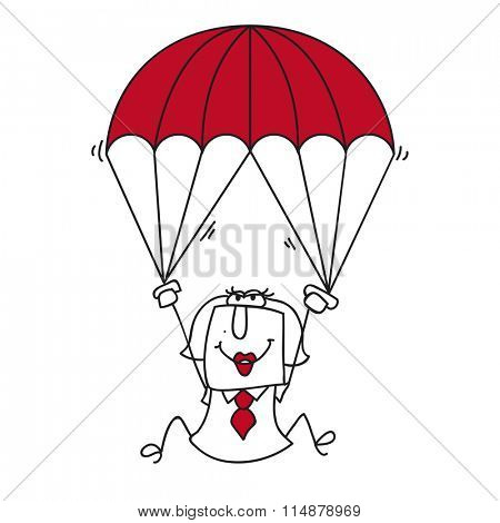 paratrooper businesswoman. Karen the businesswoman is the woman for this sticky situation