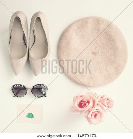 Vintage femenine fashion items