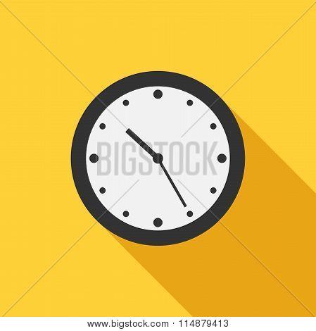 Flat Style Clock Icon