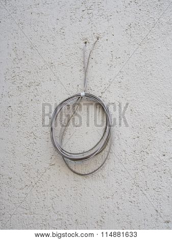 power cable through the wall
