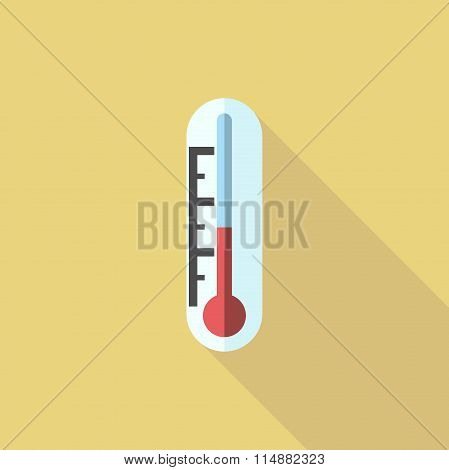 Thermometer, Flat Style Icon