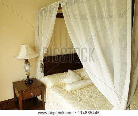Bedroom In Hotel.