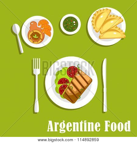 Traditional argentine cuisine and pastry