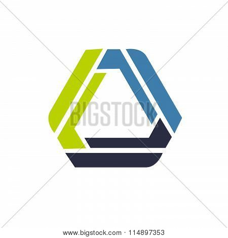 Triangle Abstract Infinity Loop Vector Logo.