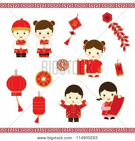 Chinese New Year cartoon vector