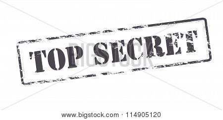 Rubber stamp with text top secret inside vector illustration