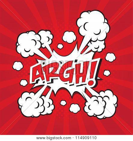 ARAH! comic word