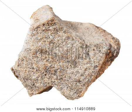 Quartzite Mineral Stone Isolated On White