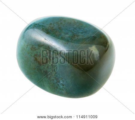natural mineral gem stone - vesuvianite (idocrase) gemstone isolated on white background close up poster