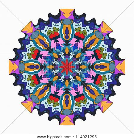 Mandala. Beautiful Vintage Elements. Vector Illustration