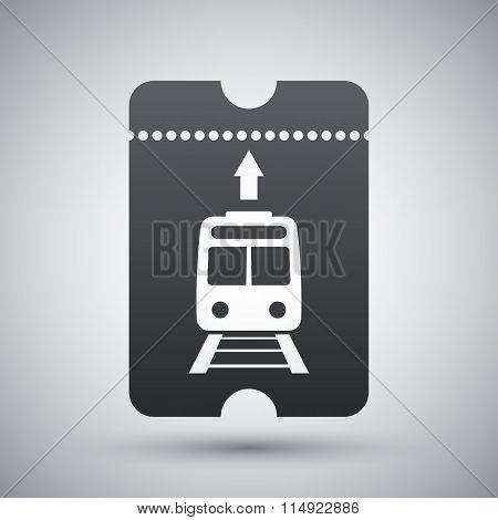 Train Ticket Icon, Vector