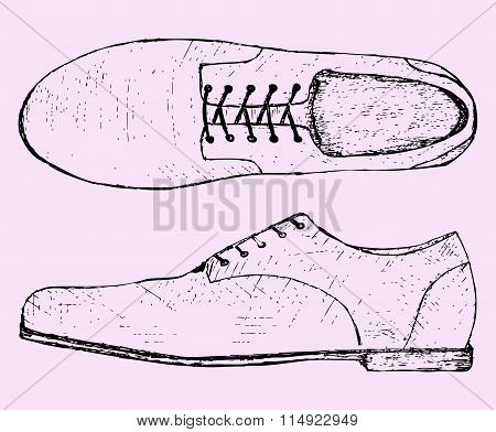 shoes with shoelace