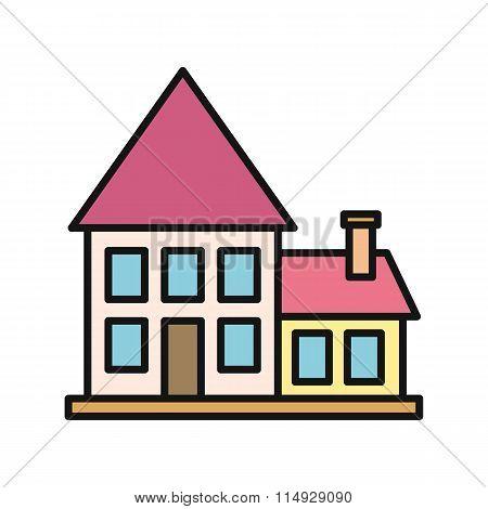 House Icon on White