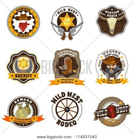 Cowboy Labels Set