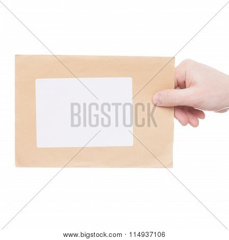 Delivering Of Letter To Recipient (only One Hand And Parcel Seen) - Studio Shot