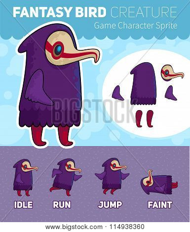 Fantasy Bird Creature Game Character Sprite Sheet