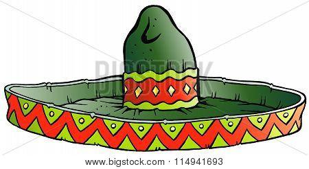 Vector Cartoon Illustration Of A Big Mexican Sombrero Hat