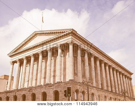 Retro Looking Birmingham Town Hall