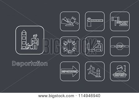 Set of deportation simple icons