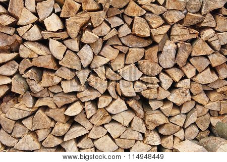 Background Of Dry Chopped Firewood