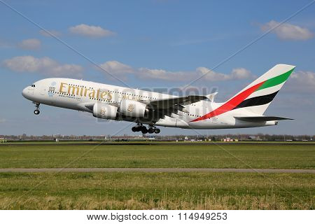 Emirates Airbus A380 Airplane