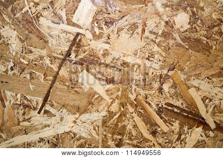 Close up Oriented Strand Board for background textures