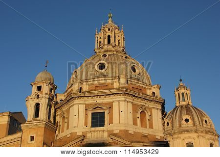 Roof Close Up Of The Santa Maria Di Loreto Church