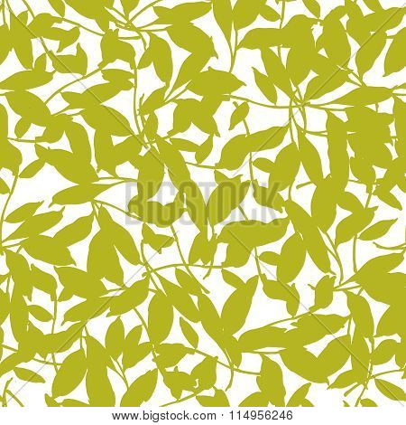 Seamless Floral Patter With Leaves