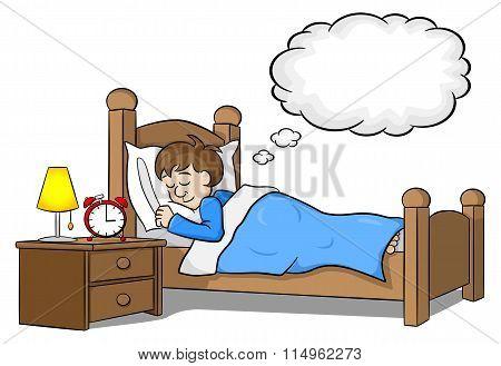 Sleeping Man Is Dreaming