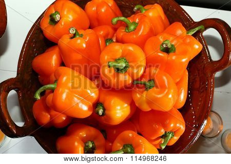 From the kitchen: Bowl of Red Peppers