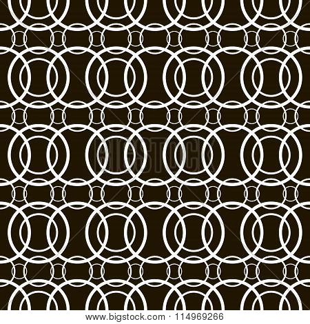 Abstract Seamless Pattern Of Overlapping Rings