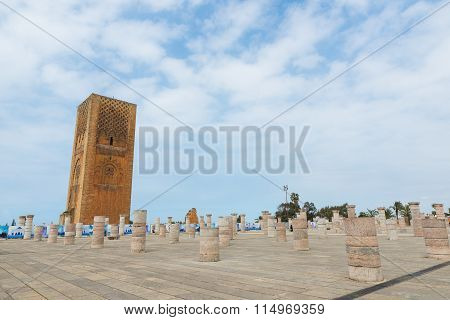 Hassan Tower At Mausoleum Of Mohammed V In Rabat