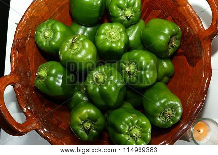 From the kitchen: Green Peppers