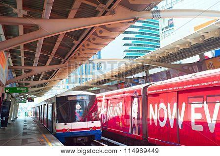 Empty Bts Skytrain Station, Bangkok
