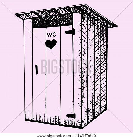 rural wooden outdoors toilet