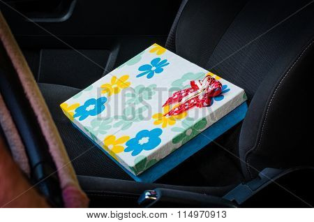 Gift Boxes On Car Seats