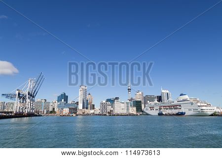 Auckland skyline with port