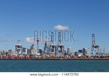 Auckland skyline with port