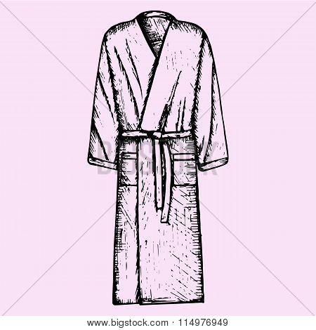 Bath robe, robe for the shower, bathrobe